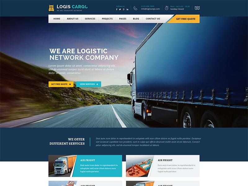 Logis Cargo - Logistics and Cargo WordPress Theme by Vinod