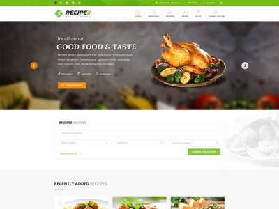Recipex food and recipe html template by vinod pal dribbble recipex food and recipe html template forumfinder Images