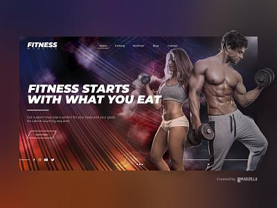 Fitness Design Inspiration website ui illustration design branding website designer website concept website design