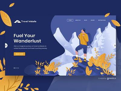 Travel Design Inspiration website designer website design website concept website ui illustration design branding
