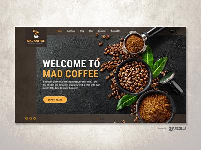 Coffee Design Inspiration website designer website design website concept ui website illustration design branding