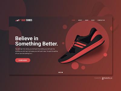 Sneakers Design Inspiration website designer website design website concept website ui illustration design branding