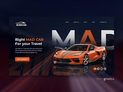 Sports Car Design Inspiration ui website designer website design website concept website illustration design branding