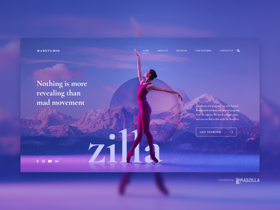 Studio Design Inspiration website designer website design website concept ui website illustration design branding