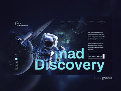 Space Discovery Design Inspiration website designer website design website concept website ui illustration design branding