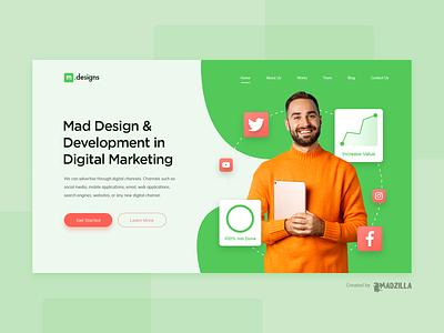 Digital Marketing Design Inspiration landing page website designer website design website concept website ui illustration design branding