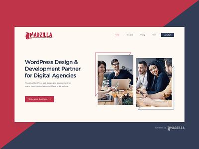 MadZilla Designs Website Idea landing page website designer website design website concept website illustration design branding