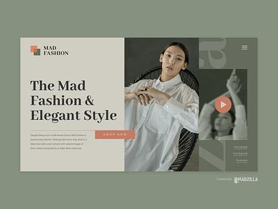 Fashion Design Inspiration minimal landing page website designer website design website concept website design