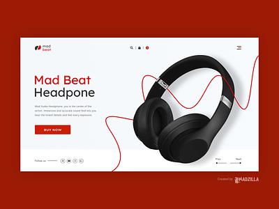 Headphone Design Inspiration landing page website designer illustration branding website design website concept website design