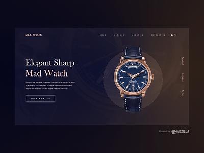 Watch Website Design Inpiration landing page ui website designer illustration branding website design website concept website design