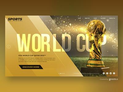 FIFA World Cup Design Inspiration website illustration ui website concept website design branding design