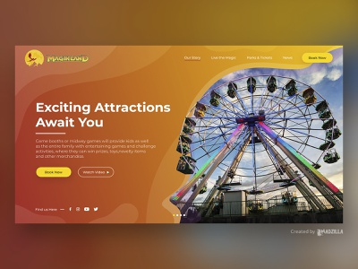 Magikland Design Inspiration website concept website design website ui illustration design branding