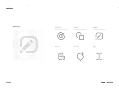 Icons Design grid icon design branding