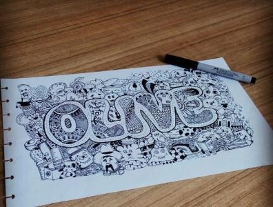 """doodle name """"olive"""" vector animation doodles illustration doodleart doodle drawing design"""