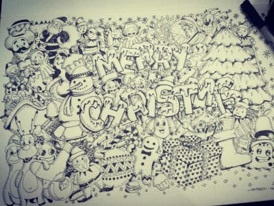 xmas doodle