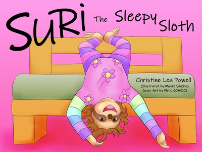 Suri the Sleepy Sloth Cover illustration children book illustration