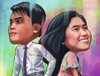 Lovers Digital Painting