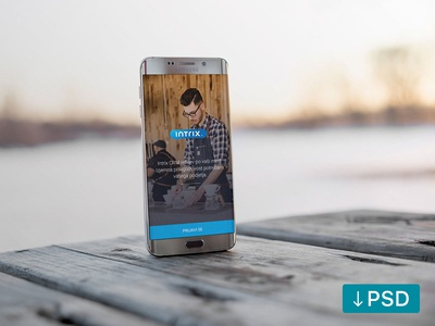 Android Phone on a wooden table