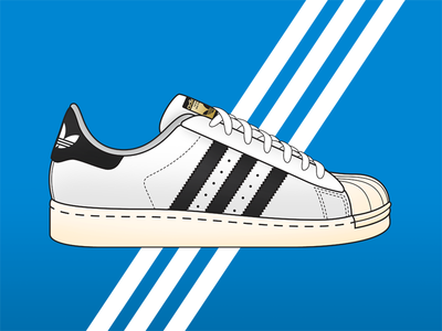 adidas Originals Superstar hip hop dmc run dmc shelltoe popular sneakers footwear three stripes illustration adidas originals adidas superstar