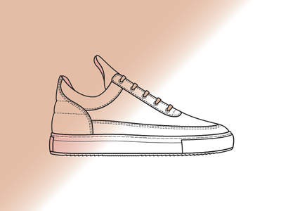 Filling Pieces Spraydient pink painting dutch minimalist illustration sneakers footwear gradient spray paint filling pieces
