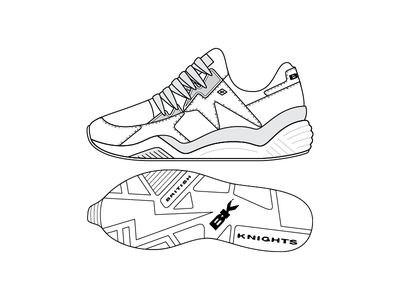 BK Thunder Bolt illustration bolt thunder runner basketball sneakers footwear design bk british knights