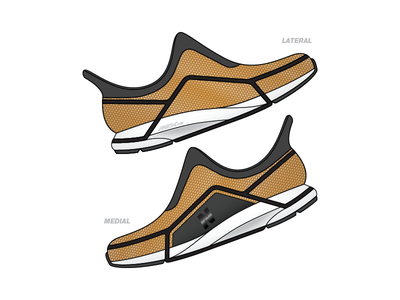 New Balance concept car gold lamborghini biomechanics sneakers footwear design runner new balance