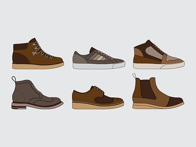 Next AW18 mens smart wear casual wear illustration collection autumn winter aw18 footwear design next
