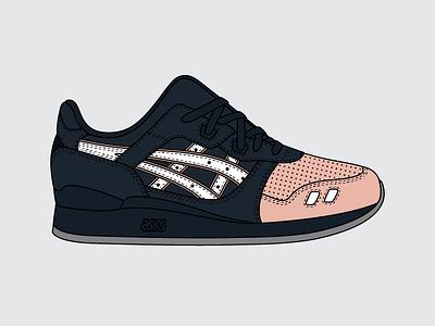 Ronnie Fieg x ASICS Gel Lyte III 'Salmon Toe 2.0' update illustration kith footwear sneakers gliii 2.0 ronnie fieg salmon toe gel lyte iii asics