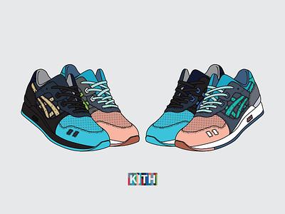Ronnie Fieg x ASICS Gel Lyte III 'Homage' illustration shoes 3d 2015 ronnie fieg kith homage miami art basel footwear sneakers