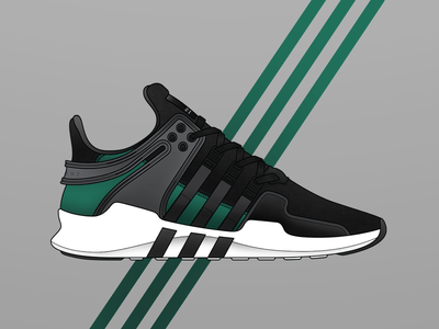 adidas EQT Support ADV footwear sneakers future is now three stripes photoshop illustrator illustration support equipment eqt adidas