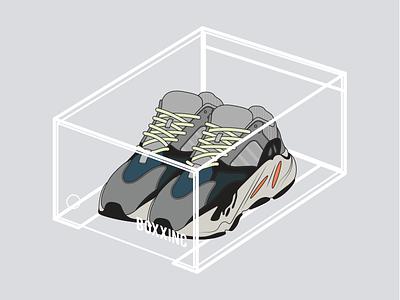 BOXXINC - Yeezy Wave Runner 700 yeezy season calabasas footwear fashion illustration kicks sneakers yeezus kanye west adidas originals wave runner 700 yeezy