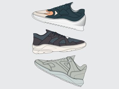 Filling Pieces AW17 Top 3 guillaume philibert legacy low denver cosmo plasma fashion kicks sneakers footwear fp illustration aw17 filling pieces