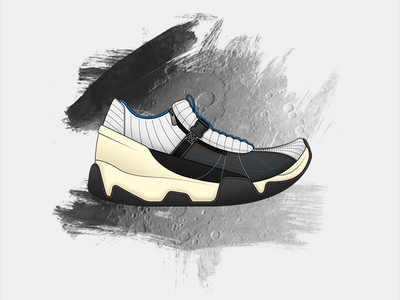 Apollo Design fashion sneakers product design space travel space spacecraft lunar moon moon landing shoes footwear design moon boot