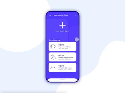 Train Location Alarms | App Interaction