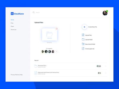 Cloud storage - File uploading interaction