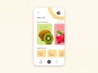 Nutrition App vibrant illustration uidesign concept workout fat burn fat fruits green ux ui mobile app nutrition interaction adobexd android ios