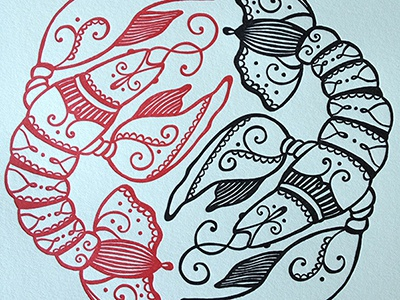 Crawfishletterpress letterpress drawing