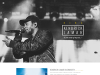 Kendrick Lamar Website - WIP