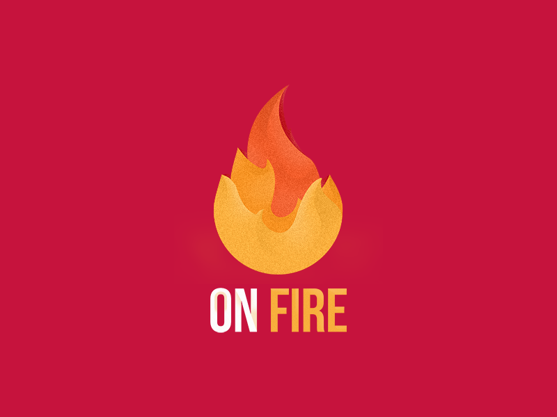 On Fire icon flames fire