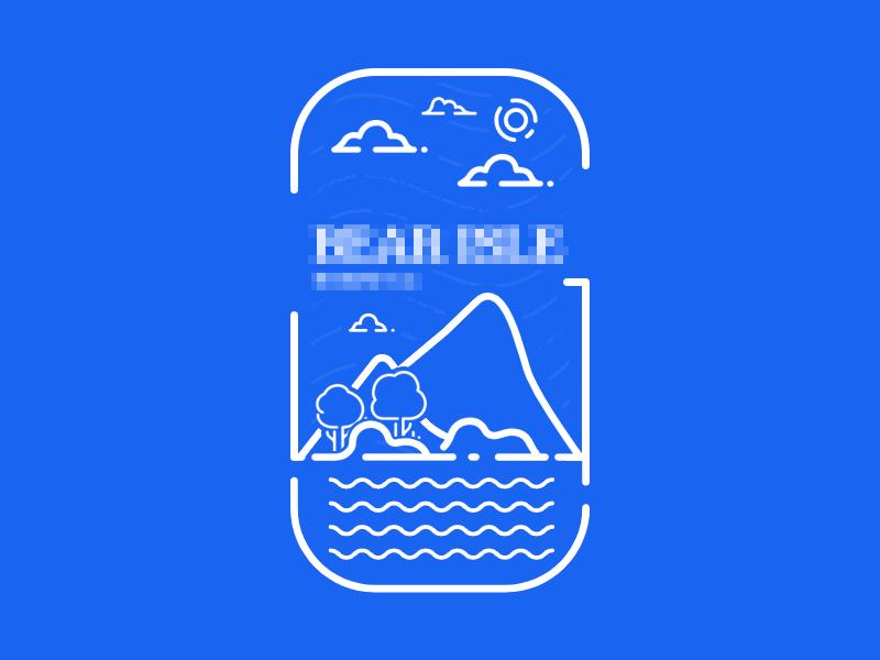 Cutting Board sky lake mountain cutting board logo