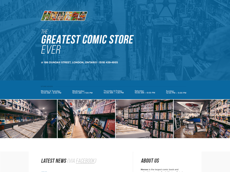 Comics Store ui comics website comic book store comic book