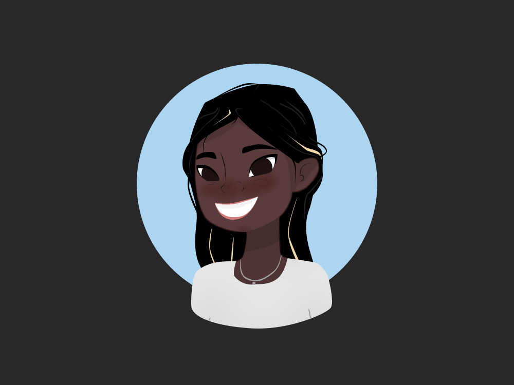 Avatar profile hair face illustration icon logo avatar