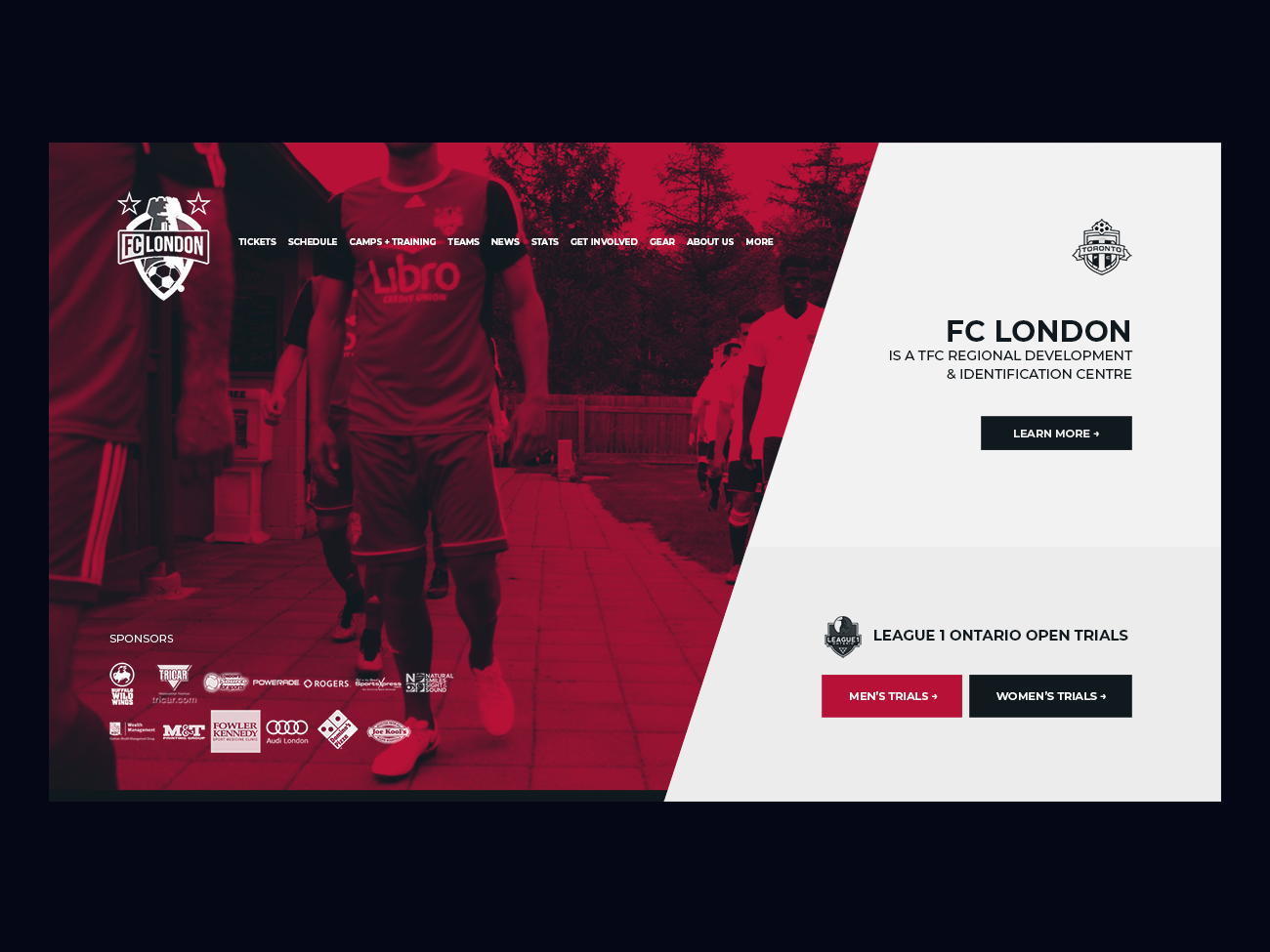 London FC website sports football soccer london