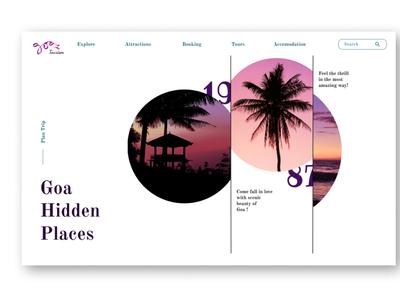 Goa Tourism landing page landing page webdesign goa photoshop illustration ui design