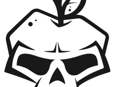 Bad Apple bad apple apple skull garage logo