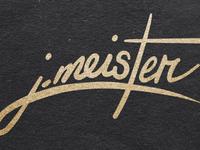 JMeister Design logo redesign