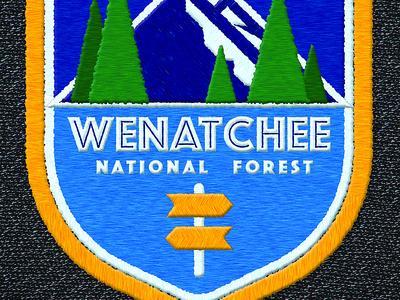 National Park Logo / Patch wenatchee national park logo patch