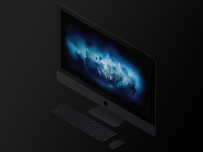 iMac Pro imac pro isometric apple imac