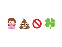 I Hope You're Not Shit Out Of Luck direct mail emojis flat