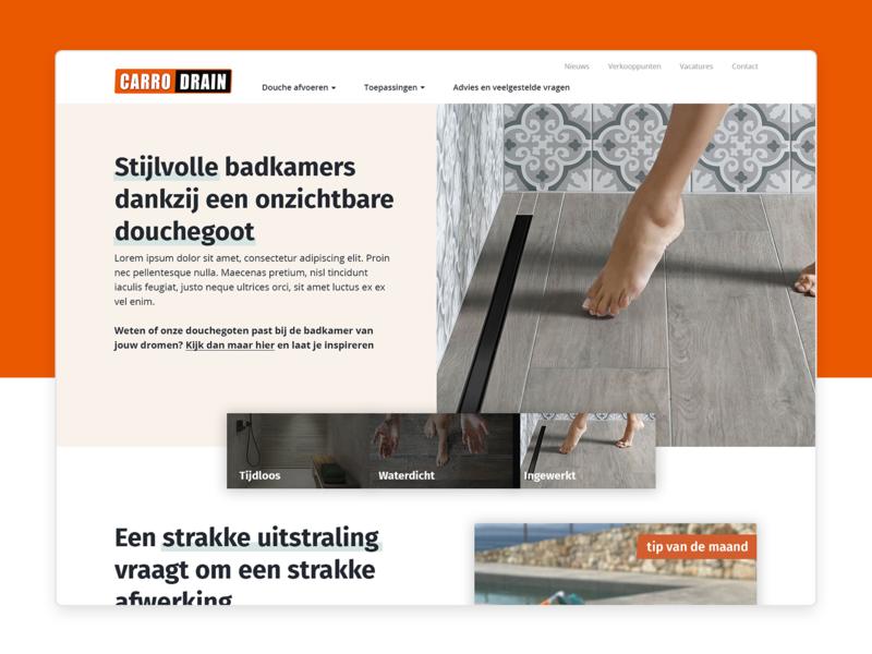 Carrodrain 🚿 homepage branding redesign design web